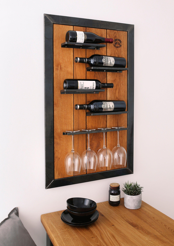 Weinregal Wein Eiche Wandregal Louis Martel Flaschenregal Weinschrank Glas Regal Wandregal Weinregale Weinschrank