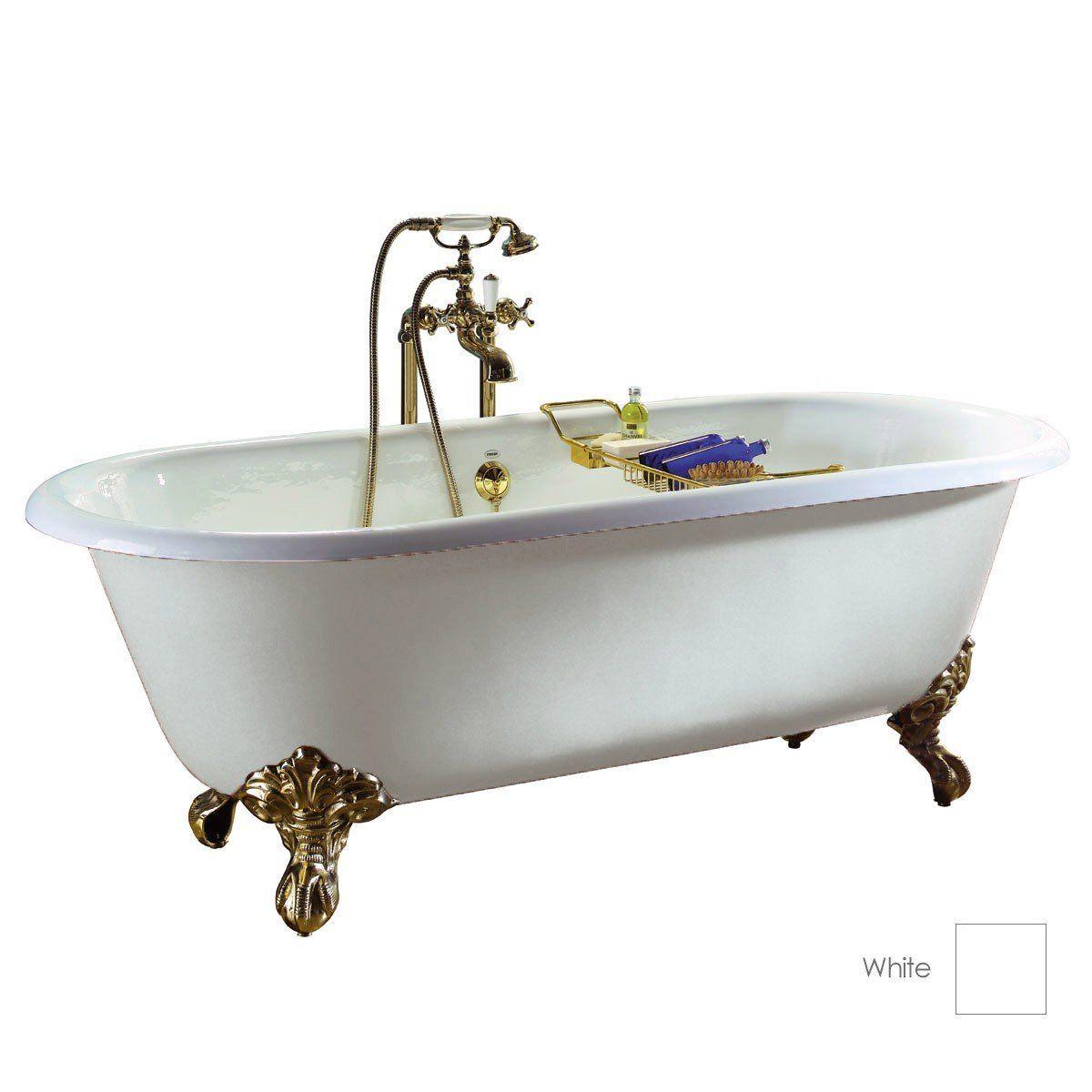 Bella Casa 61 In Double Ended Bathtub - No Drillings 14 3/5 in water ...