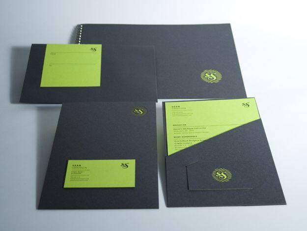 Personal Identity - Swanson design Packaging Pinterest - resume folder