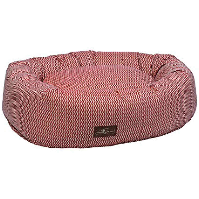 Jax and Bones Mod Rust Premium Cotton Donut Dog Bed