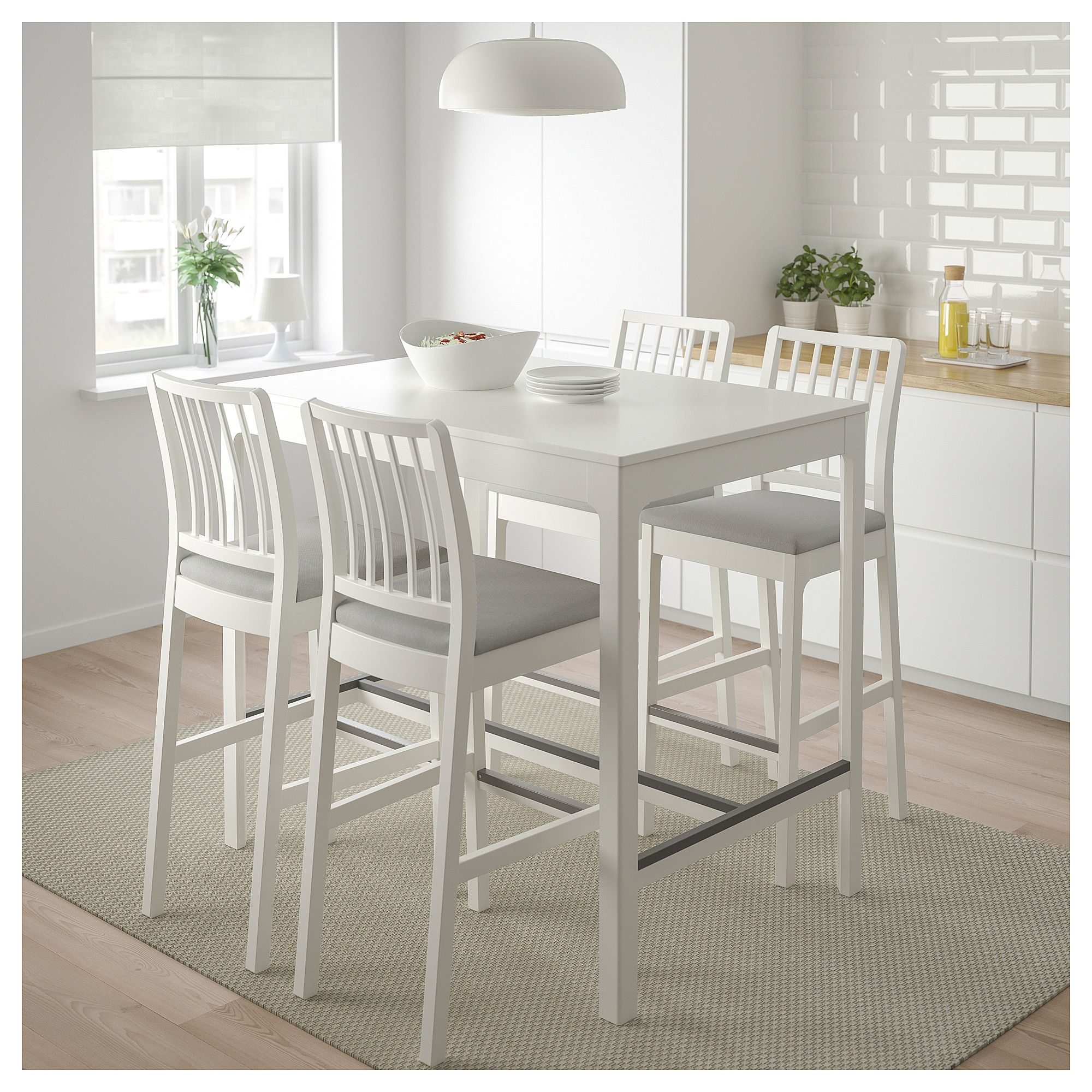 Ekedalen Bar Table White 47 1 4x31 1 2 120x80 Cm Wnetrza