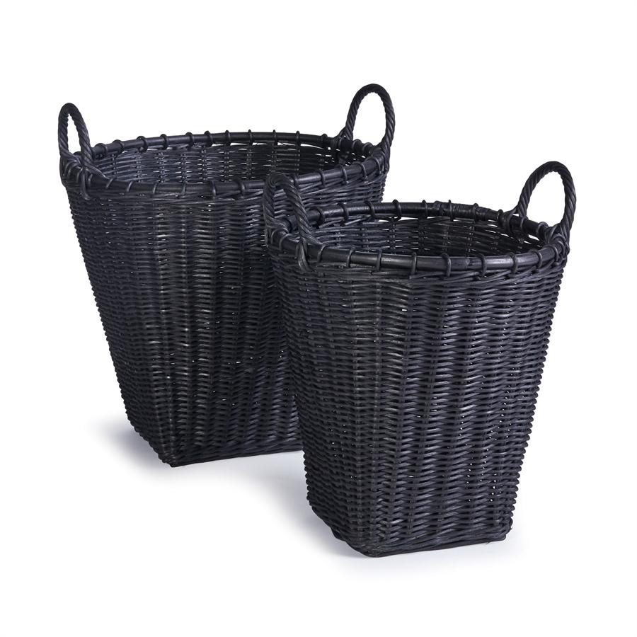 Alvero Baskets Set Of 2 Wicker Laundry Basket Basket Basket Sets