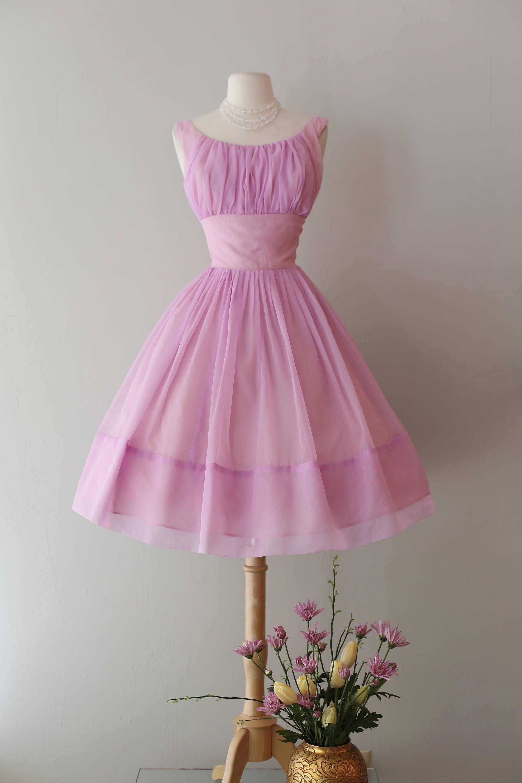 Vintage us lavender cupcake chiffon party dress vintage s