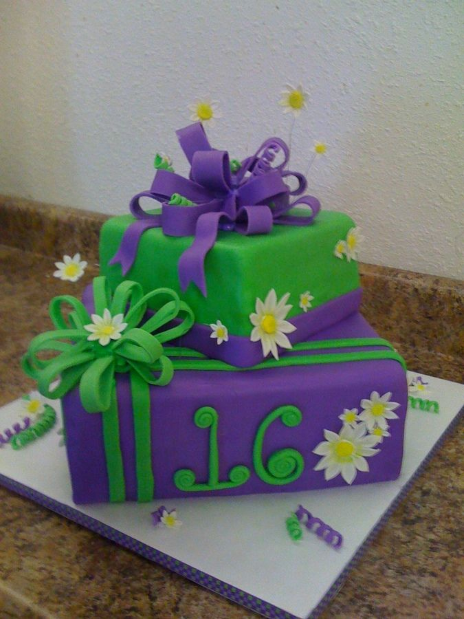 Two Tiered Present Cake