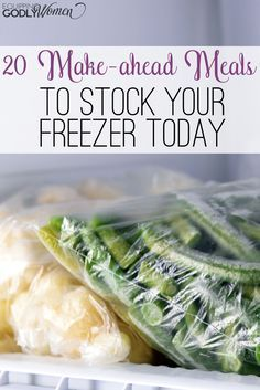 Yum! Looks like I need to do more freezer cooking! These make ahead meal recipes look great!