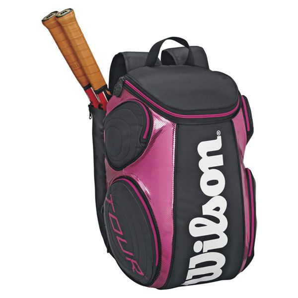 Wilson Tour Black Pink Large Tennis Backpack Tennis Bags Wilson Tennis Bags Tennis Accessories