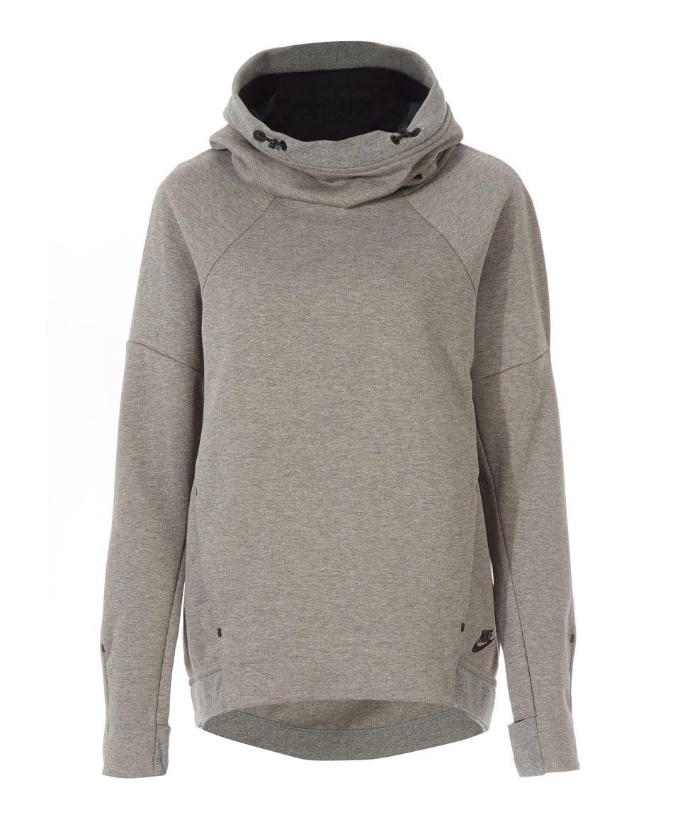 Nike Grey Fleece Hoodie Womenswear Liberty.co.uk