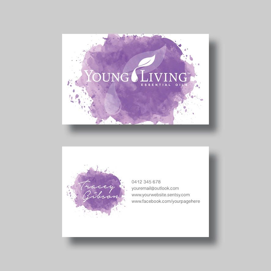 Young living essential oils business card stained digital design young living essential oils business card stained digital design by bellgraphicdesigns on etsy colourmoves