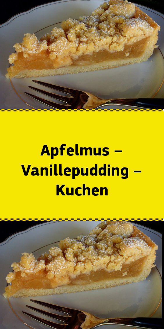 Apfelmus – Vanillepudding – Kuchen #löffelbiskuitrezept