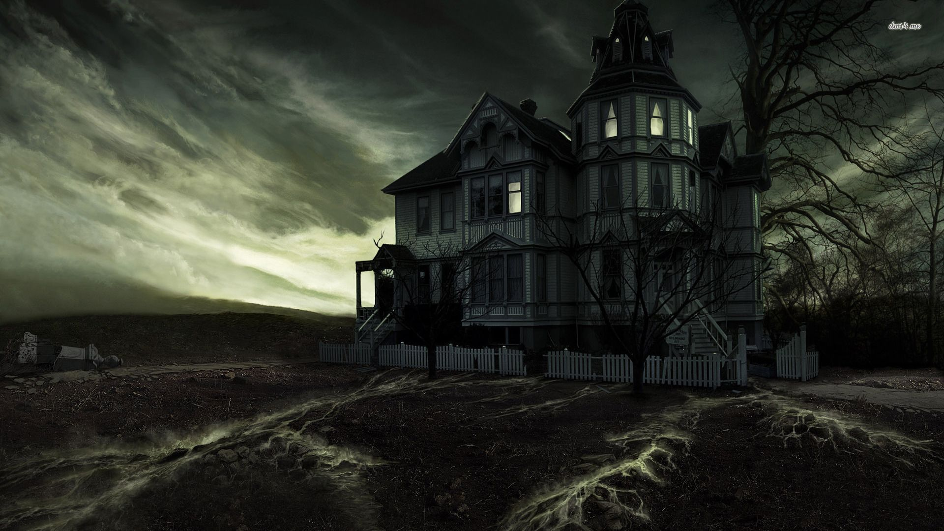 Spooky House Hd Wallpapers With Images Halloween Haunted