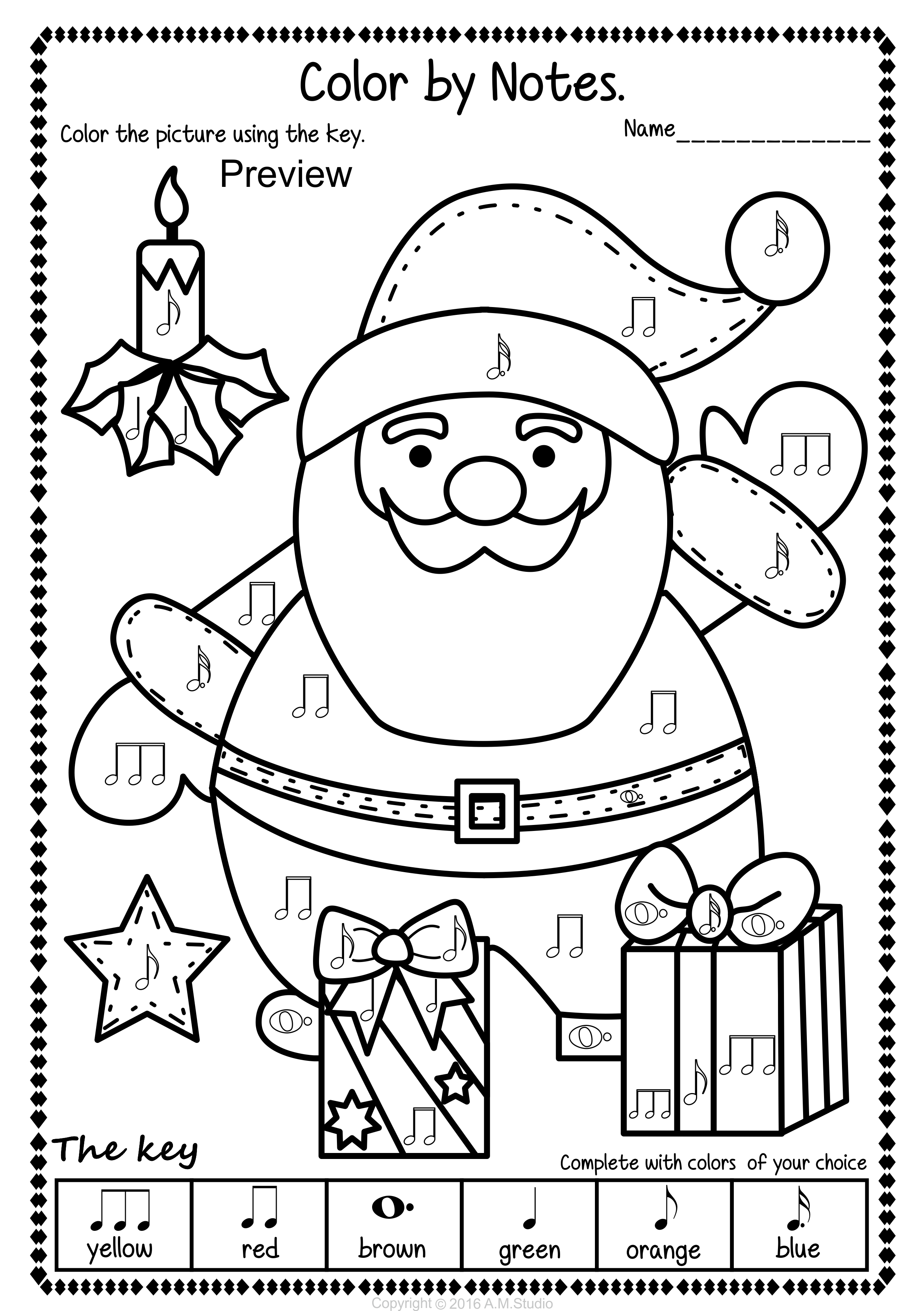 Simple And Fun Christmas Music Coloring Activity For Kids This Set Contains 14 Designs In 3 Christmas Music Coloring Christmas Music Activities Music Coloring