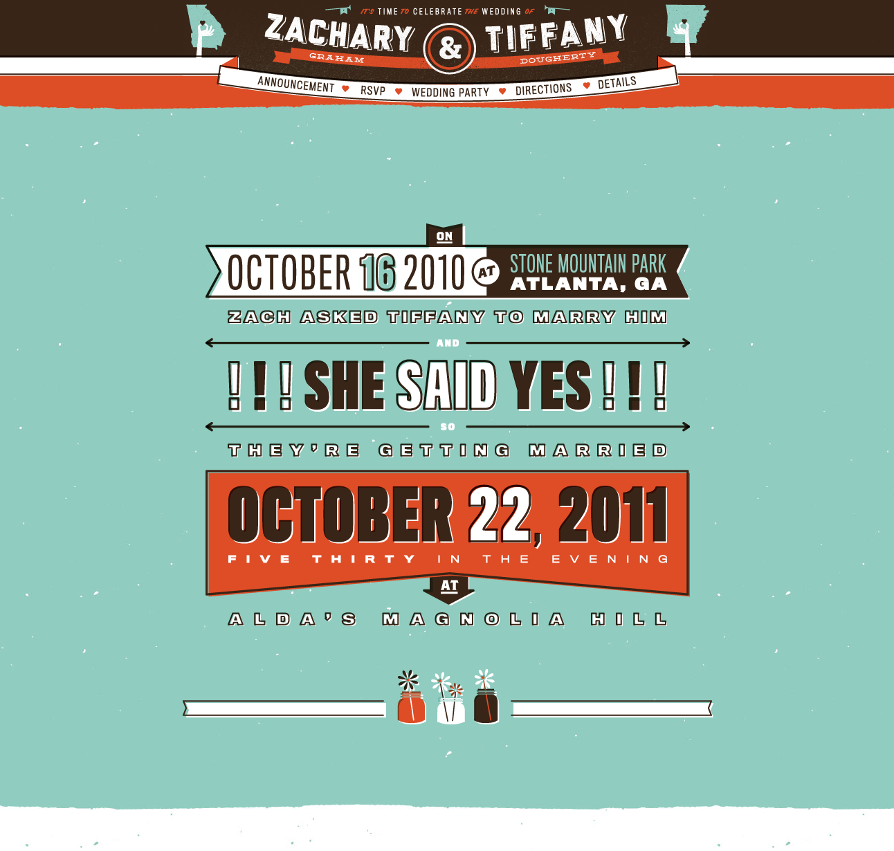 Zachary & Tiffany wedding website | Web Design | Pinterest ...
