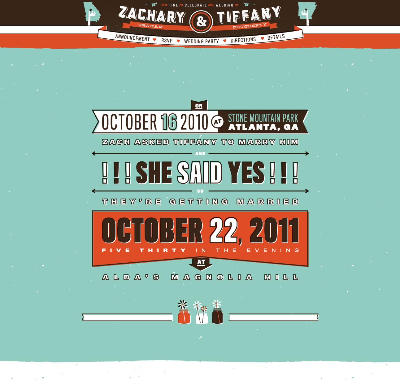 Zachary & Tiffany wedding website | Web Design | Pinterest | Wedding ...