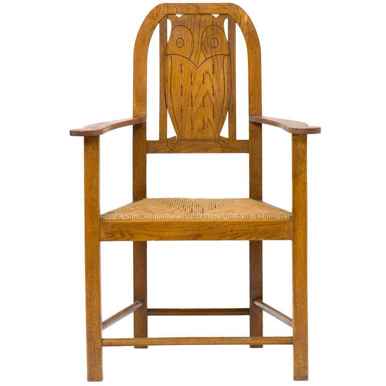 Heinrich Vogeler, Worpswede Armchair, designed around 1900 - ausergewohnliche relax liege hochster qualitat