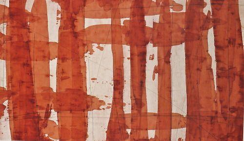Chronicle #4, oil and varnish on paper, 26x40, Glovaski 2009