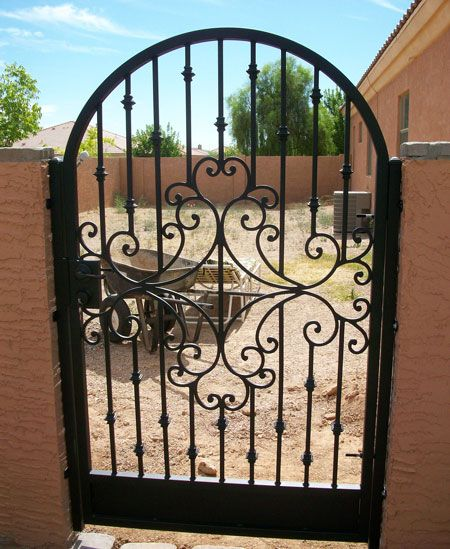 """840mm gap opening Wrought Iron Metal Gate//Gates TOP QUALITY-to fit 2ft 9/"""""""