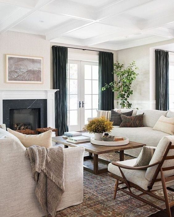 Earthy Farmhouse Living Room Design Plan — Boxwood Avenue