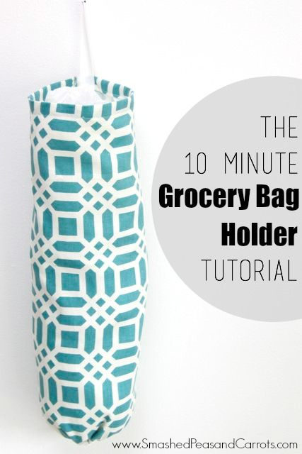 Learn How To Make This Easy Grocery Bag Holder In Just 10 Minutes Using Riley Blake Home Decor Fabric