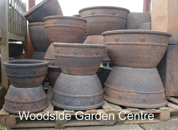 Extra Large Old Stone Piecrust Pots And Planters 400 x 300