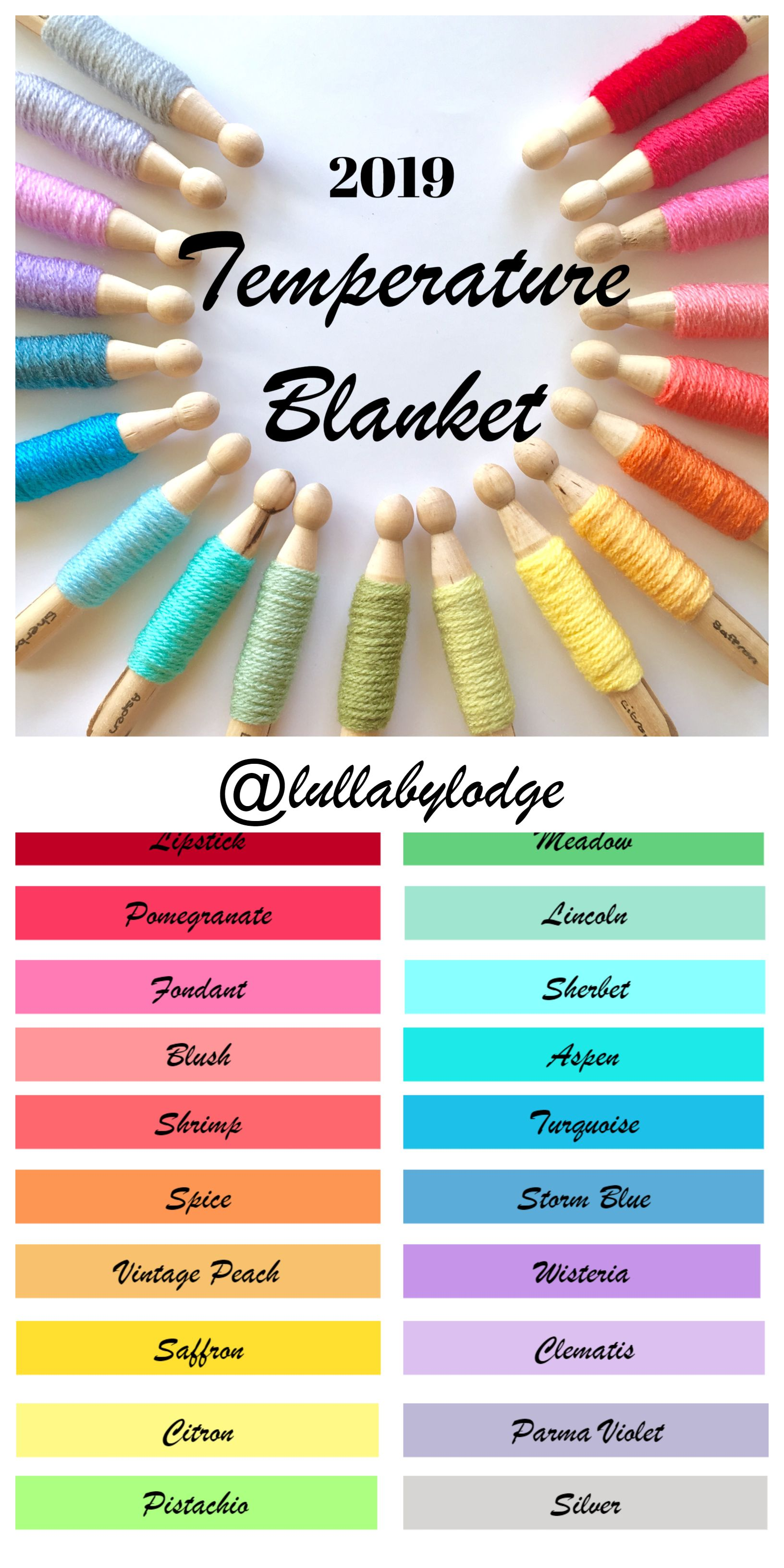 2019 Temperature Blanket Free Pattern & CAL | Projects to