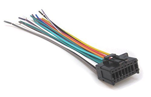 mobilistics wire harness fits pioneer avh 271bt, avh 280bt car stereo wires color code radio wire harness compatible