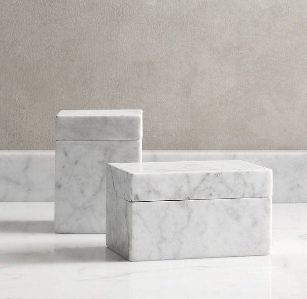 Carrara Marble Canisters | Objects