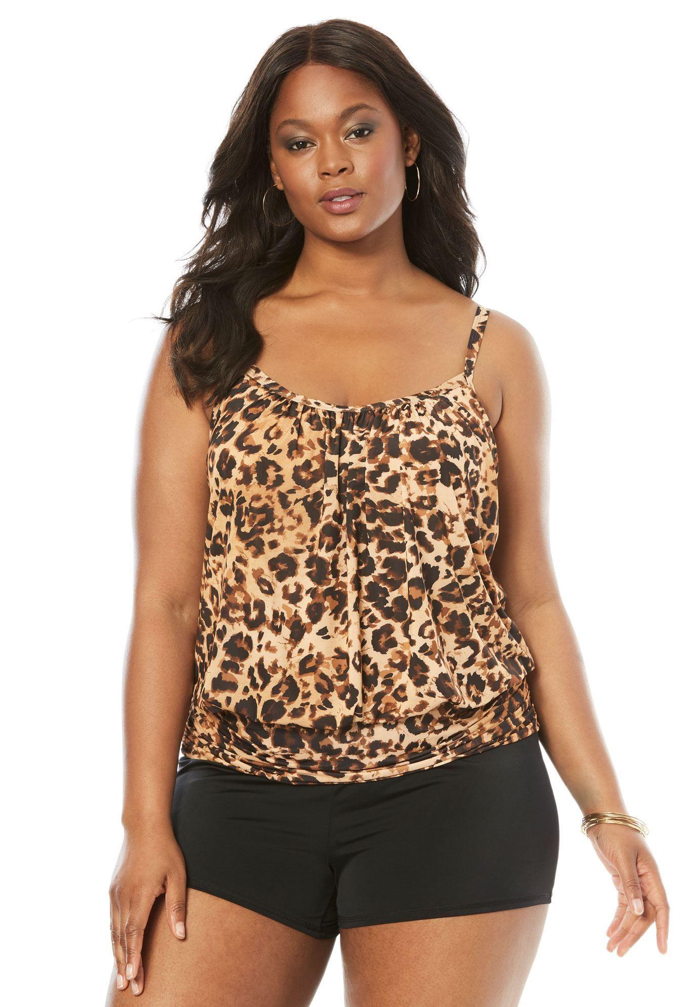 d1d83f9d5f Blouson Tankini Top - Women s Plus Size Clothing