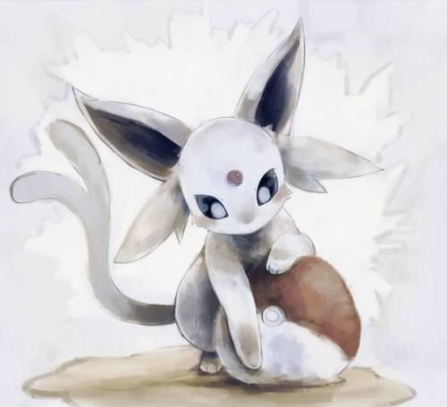 Psychic Type Pokemon Cute Kawaii Espeon Pokeball Eevee