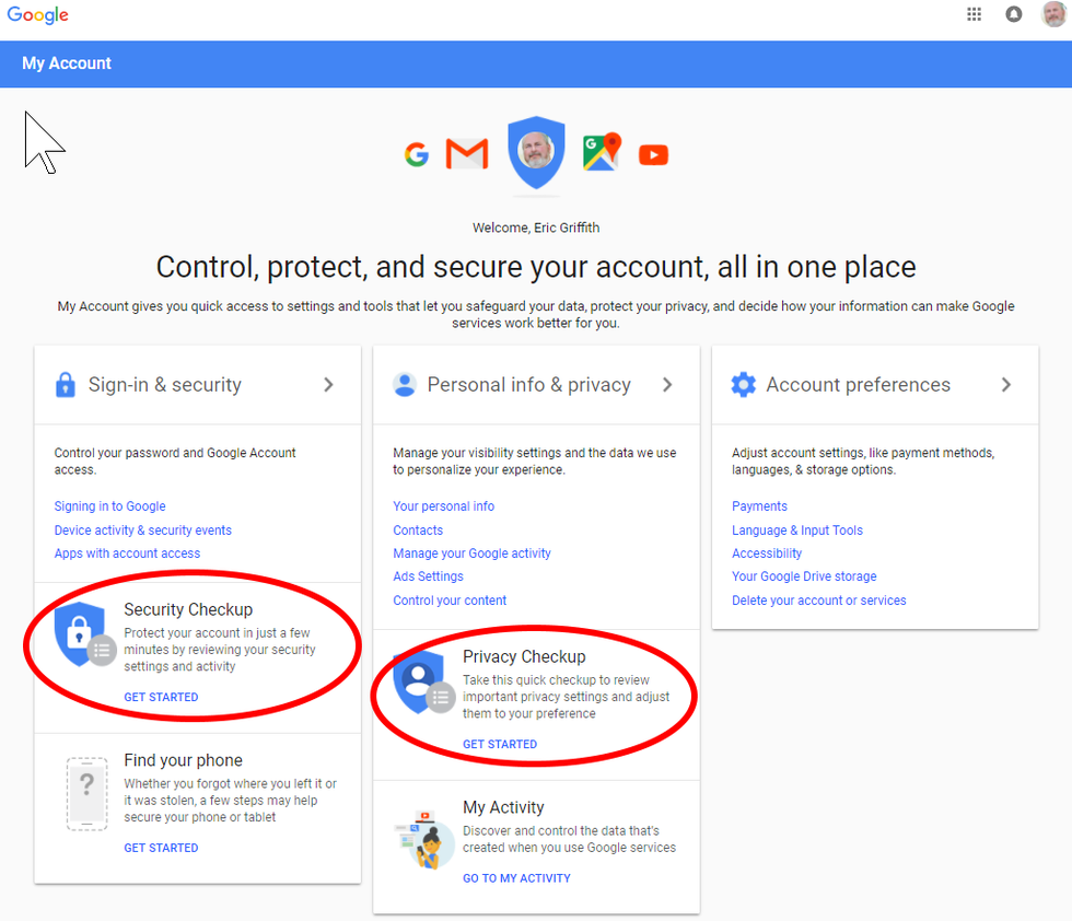 How To Manage Your Google Privacy Settings My Google Account