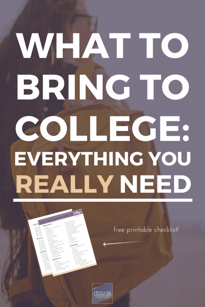 What To Bring To College | College Packing List | Dorm Room Packing List,  Checklist Part 53