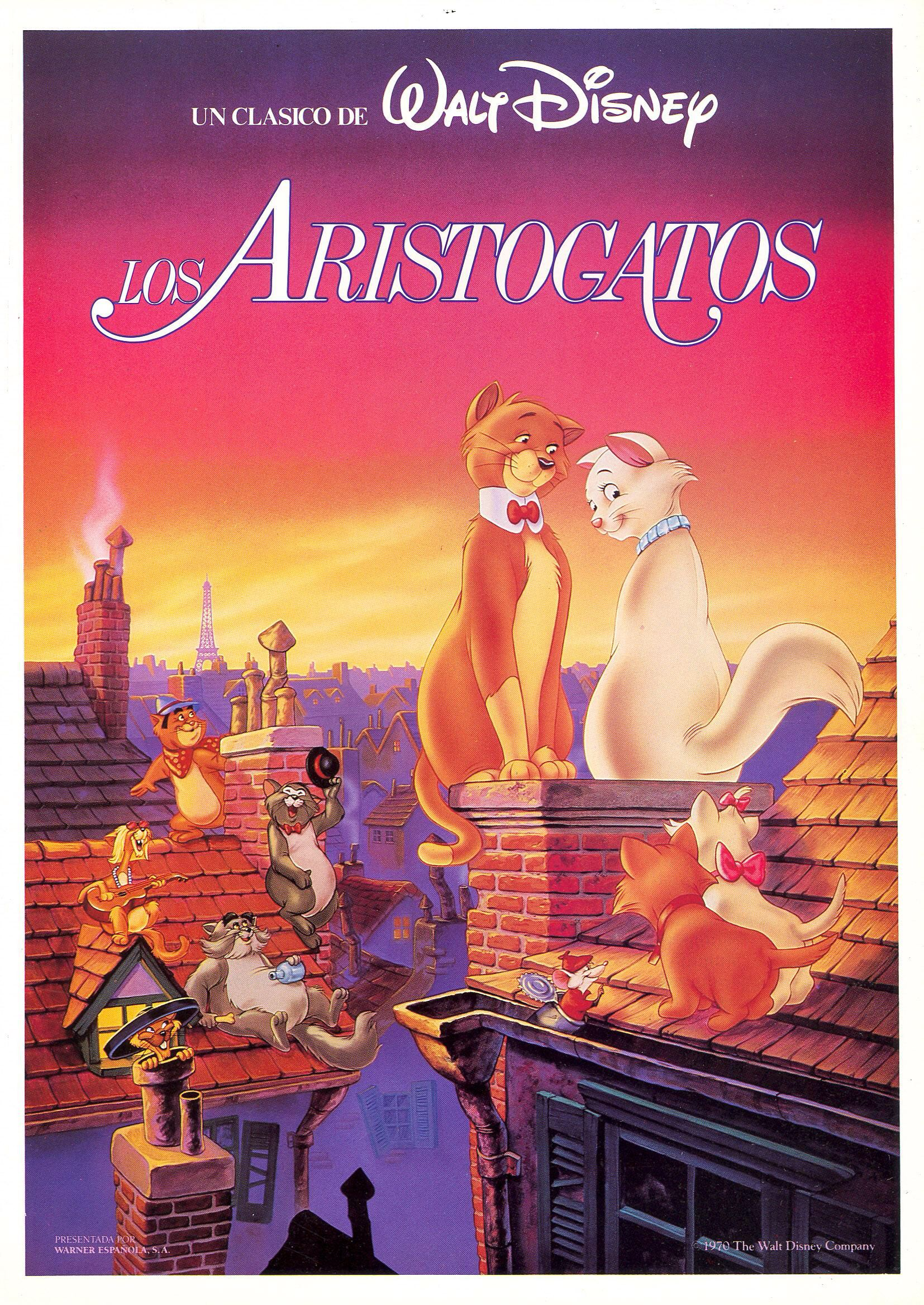 Los Aristogatos Aristocats, Aristocats movie, Disney posters