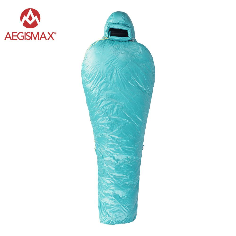 Aegismax goose down winter camping sleeping bag mummy adult
