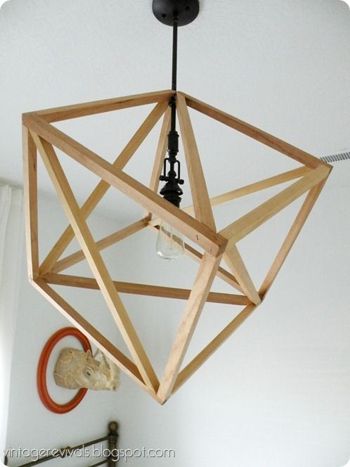 Love wood project do it yourself awesome project pinterest diy cube pendant light diy from vintage revivals solutioingenieria Choice Image