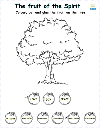 Fruit Of The Spirit Printables English Images
