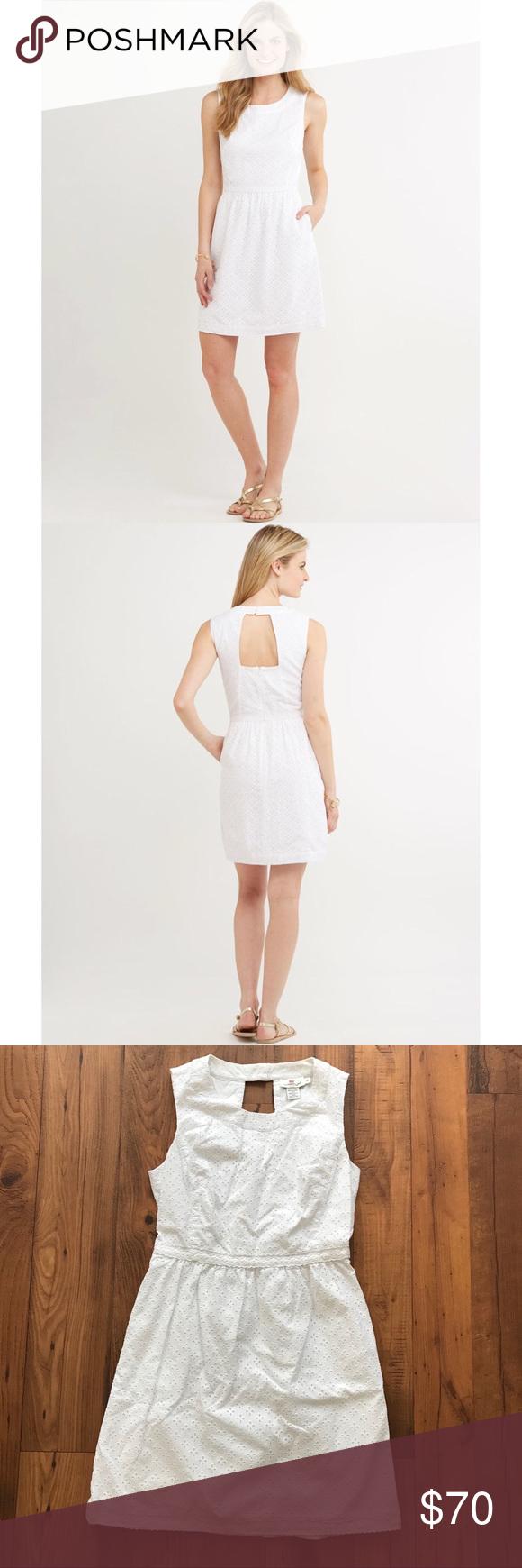 Vineyard Vines White Eyelet Trim Cutout Back Dress Vineyard Vines White Eyelet Trim Cutout Back Sleeveless Dress The Dress Is Dresses White Eyelet Dress Backs [ 1740 x 580 Pixel ]