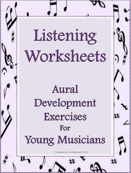 Fourteen Aural Discrimination Listening Skill Worksheets Listening Worksheets To Help Develop Aural Music Worksheets Teaching Music Music Lessons For Kids