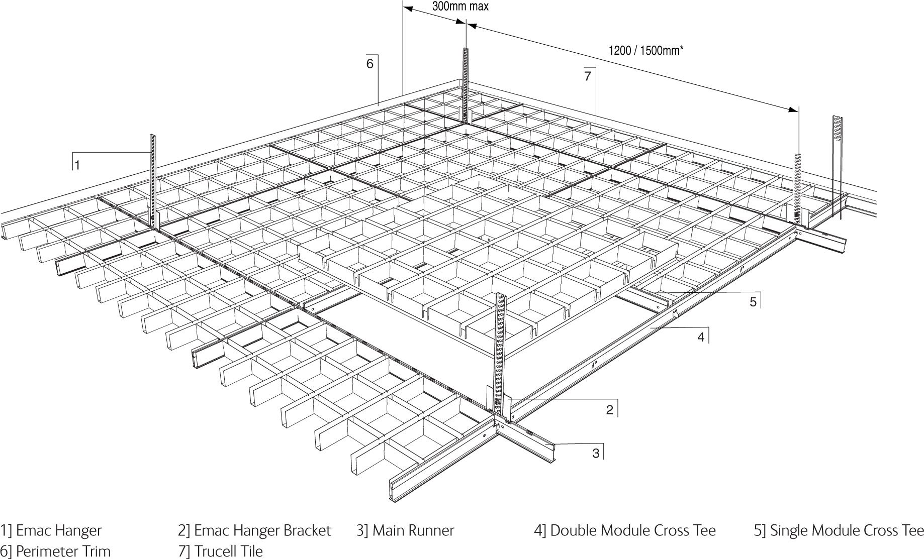 Open Cell Ceiling Design