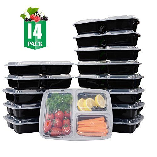 Amazoncom Meal Prep Food Containers with Lids 15 Pack Lunch
