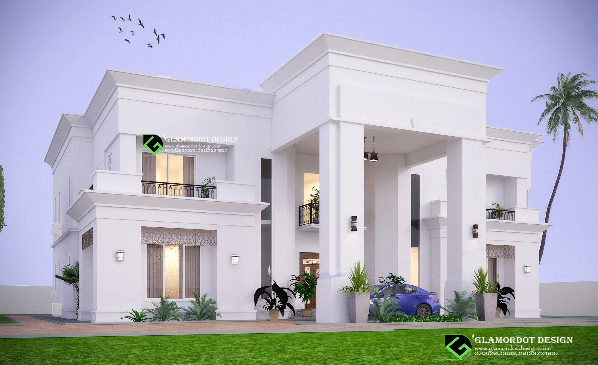Architectural Design Of A Proposed 5 Bedroom Contemporary Villa Abuja Nigeria Duplex Design House Styles Hotel Lobby Design