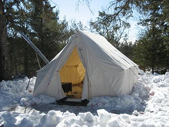 light weight Snowtrekker Outfitter canvas tent for elk hunting or base c&ing with internal frame & light weight Snowtrekker Outfitter canvas tent for elk hunting or ...