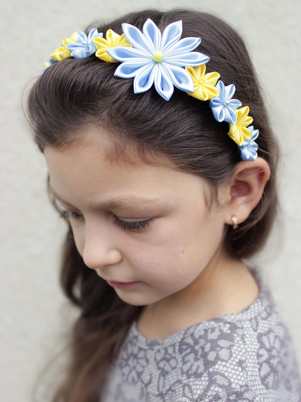 Baby blue headband flower girl headband flower girl gift