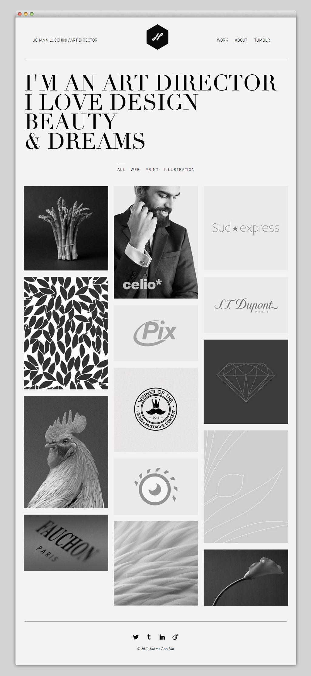 the web aesthetic johann lucchini ux ui web design pinterest design svart och. Black Bedroom Furniture Sets. Home Design Ideas