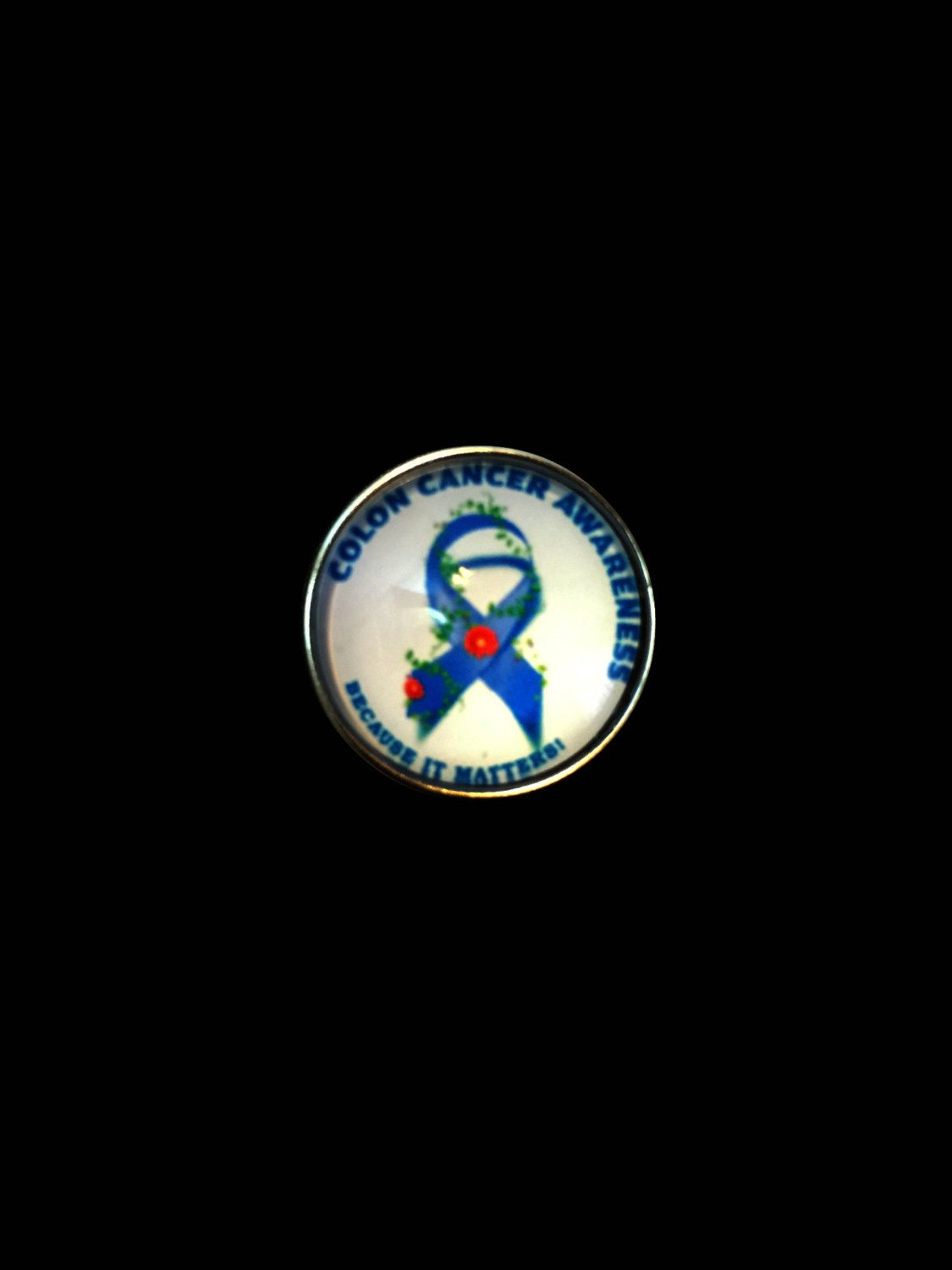 Colon Cancer Ribbon Snap 20mm for Ginger Snap Jewelry by SimpleEleganceCole on Etsy