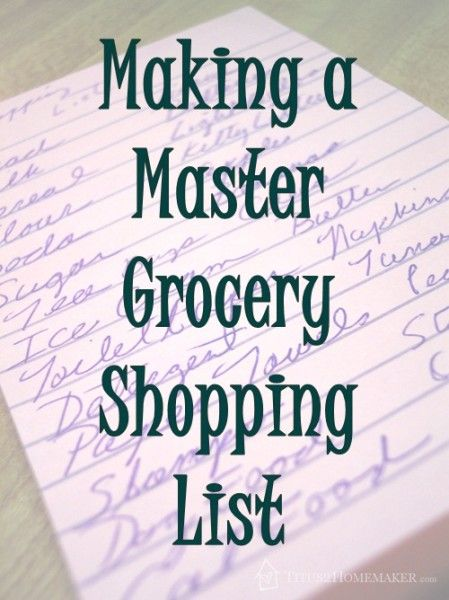 making shopping lists