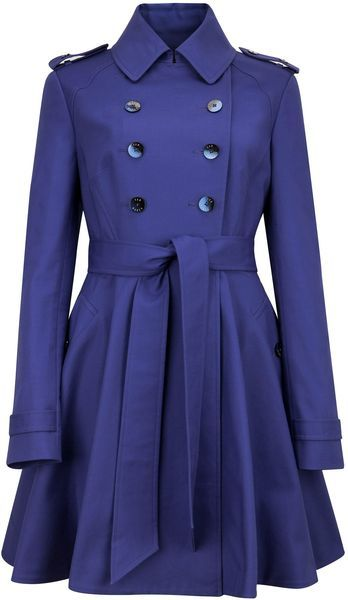 TED BAKER LONDON Moriah Double Breasted Coat - as seen on Glee in fuschia c2a0add387