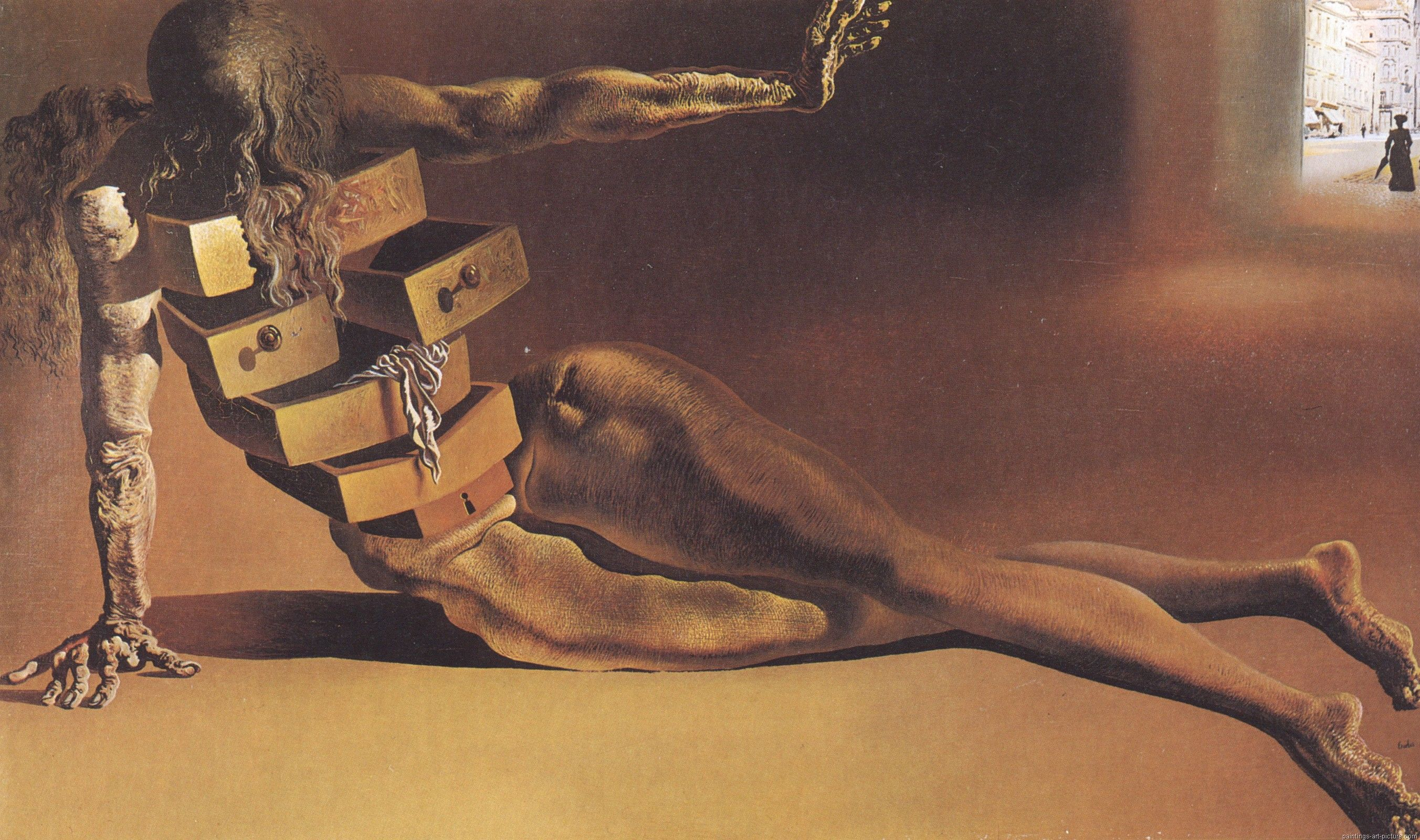 Salvador Dali The Anthropomorphic Cabinet Painting