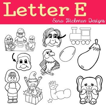 Chubby Cheek Clipart Letter E Black And White Only Sara