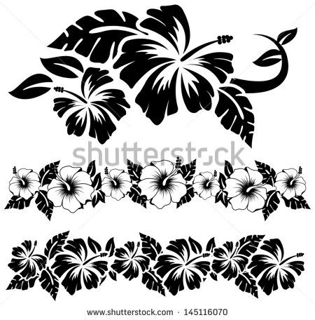 Image gratuite sur Pixabay - Hibiscus, Fleur, Feuilles | Muster