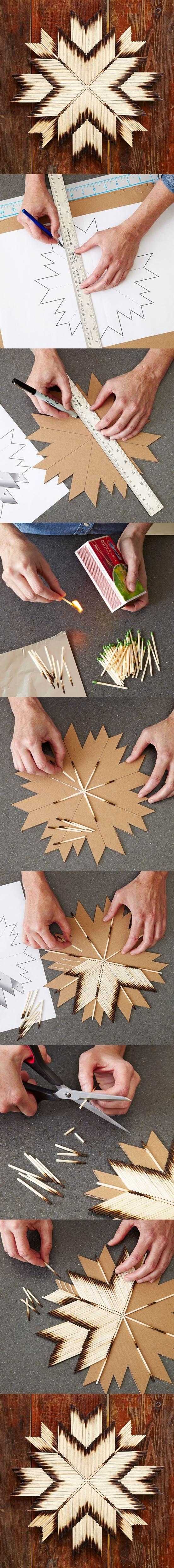 Estrella Con Cerillas Foda Se Pinterest Estrella Tomamos Y  # Foda Muebles De Madera
