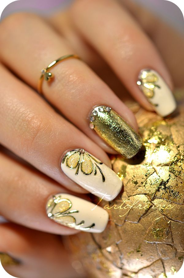 Nail art antique gold foil gel this website has some of the most nail art antique gold foil gel this website has some of the most beautiful nail prinsesfo Choice Image